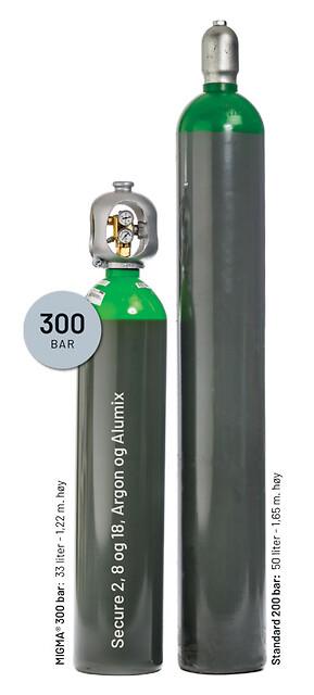 Gass flasken Migma® 300 bar. Lavere, lettere og sikrere.
