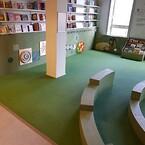 Københavns Hovedbibliotek med ny flot gummibelægning. Pladsstødt gummi af PolyPlay og EPDM-Gummi.\nLavet af ErgoFloor