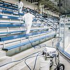 Sanispray hp 130 2 gun cart sprayer sanitizer
