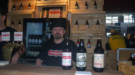 Peter Thulin berättar att Göteborgs nya bryggeri ställer ut tillsammans med Grebbestads bryggeri