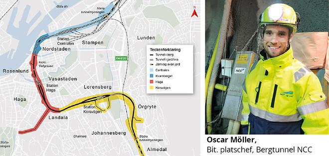 PAAB flödesmätning Västlänken Göteborg, Oscar Möller NCC
