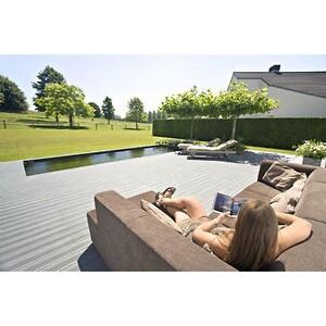 Skal du i gang med et forårsprojekt? F.eks. en ny terrasse, så har vi det rette materiale! Det er miljørigtigt, fordi terrassebrædderne består af genbrugsplast (LDPE, HDPE og PP) og er massive. Plankerne kræver ingen vedligeholdelse - pletter og snavs vaskes let af med vand, selv rødvin kan let vaskes af med lunken vand.