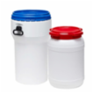 Plastfade med skruelåg produceret ihht. farmaceutiske krav