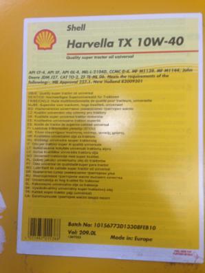 Shell Harvella TX 10W-40 olie