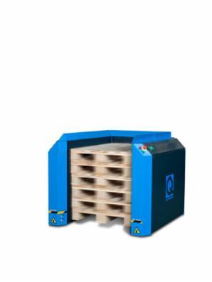 Q-System Elektrisk pallemagasin PallEvator Q1 til automatisk stabling og/eller nedstabling af paller
