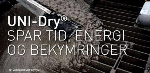 UNI-Dry® - Selvudtørrende beton: Kort tørretid og optimal fugtbeskyttelse