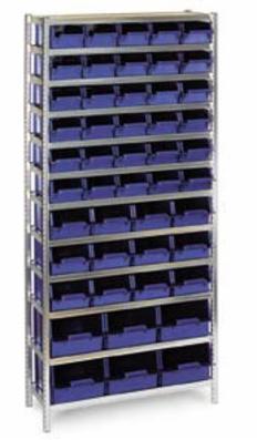 Lagerreol med kasser, komplet 48-31 Ny
