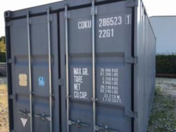 20' nyere skibscontainer.