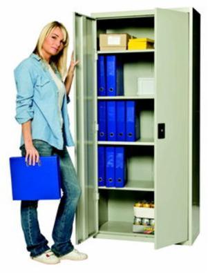 Opbevaringsskab model SWED 180 grå