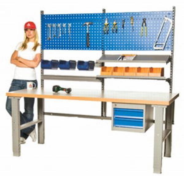 Arbejdsbord 1600x800mm oliehærdet