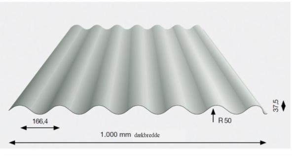 Stålplade type 38/1000G