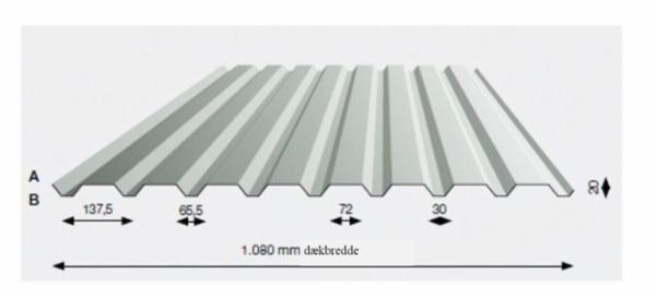 Trapez stålplader - 20/1080W