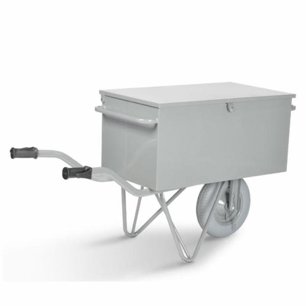 Værktøjstrillebør 1-hjul Box. Punkterfri hjul