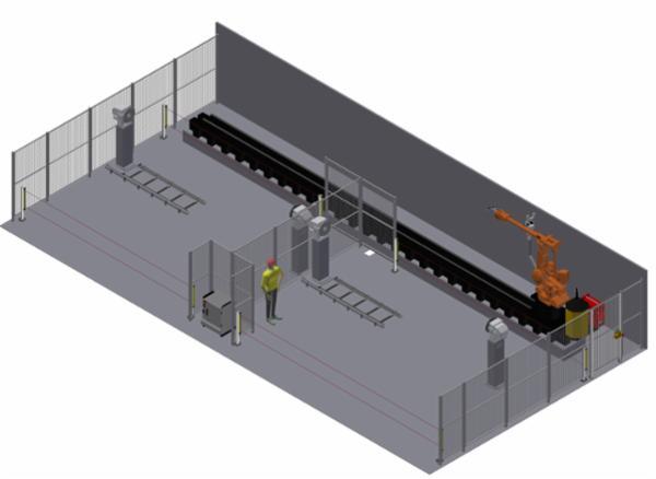 Produktionsklar robot-svejseanlæg til en halv månedsløn…
