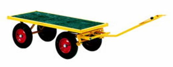 Trækvogn uden sider med bremse 1500x700x460 mm
