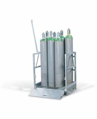 Transportabel gasflaskepalle til 12 propan gasflasker à 33 liter, 318 x 1155 mm