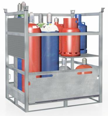 Gasflaskepalle af galvaniseret stål, op til 12 gasfl. Ø 318 mm eller 20 gasfl. Ø 300 mm , GFP-33.11
