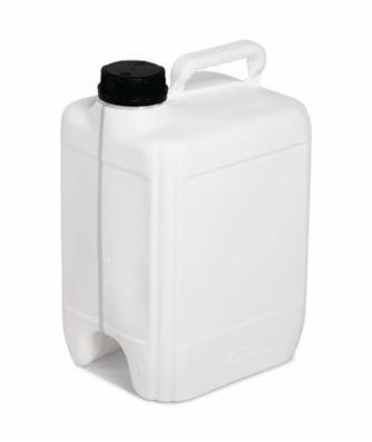 Kunststofdunk af polyethylen (PE), 10 liters volumen, hvid
