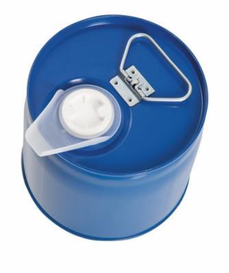 Sikkerhedsbeholder af lakeret stål med indvendig beholder af PE, 6 liter