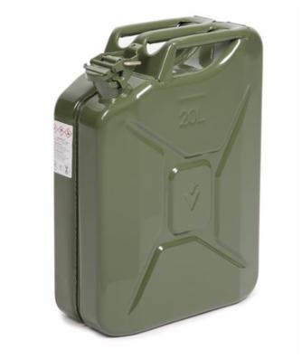 Ståldunk 20 liter, grøn, med UN-godkendelse