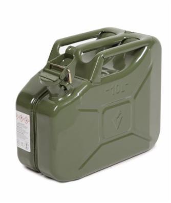 Ståldunk 10 liter, grøn, med UN-godkendelse