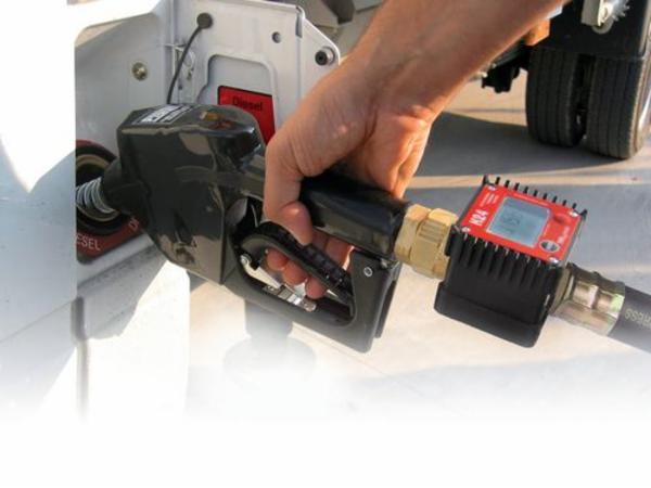 Gennemløbsmåler til PE-dieseltank, til eftermontering