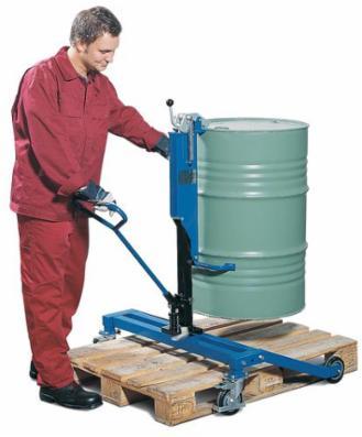 Tromleløfter RT af stål, lakeret, til 200 liters ståltromler