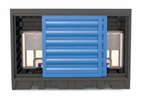 PolySafe depot type 2 C, til 8 tromler à 200 liter eller 2 IBCer à 1.000 liter, af kunststof