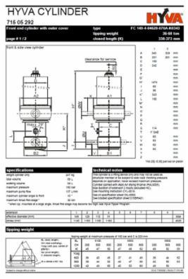 Hyva FC 149-4-04620-070A-K0343 cylinder