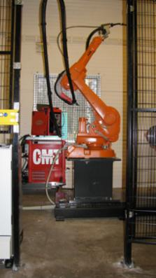 Nyt svejseudstyr Fronius CMT robot