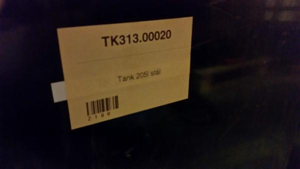 205 liters ståltank