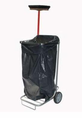 Affaldsvogn, mobil med store hjul