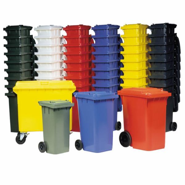 Affaldsbeholder fuldfarvet