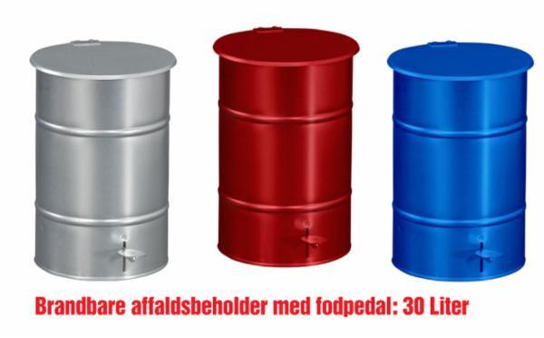 Affaldsbeholder med fodpedal 30 L