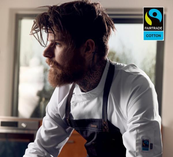 Fairtrade - Unisex kokke-/tjenerjakke fra Kentaur