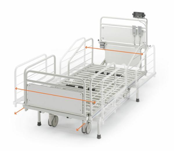 KR HEAVY BED 400: Den bariatriske seng til brugere op til 400 kg og med elektrisk breddejustering.