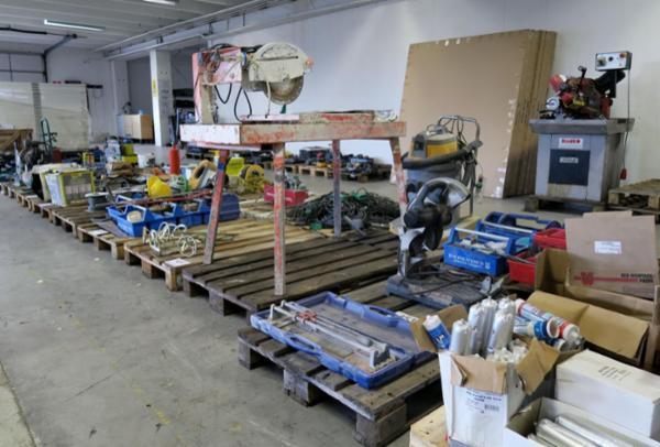 1474 Værktøj og produkter fra stor VVS virksomhed sælges via Campen Auktioner