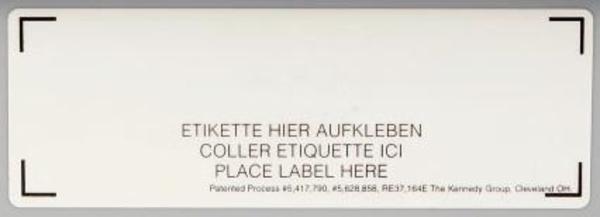 Labelholder -  let udskiftning af etiketter