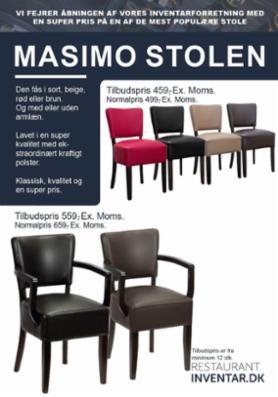 INTRO-tilbud på stole fra Restaurantinventar.dk