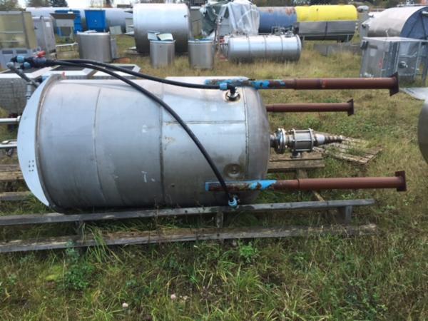 1600 liters rustfri tank med varmekappe