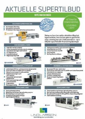 Stærke PROMO-tilbud på nye maskiner til hurtig levering