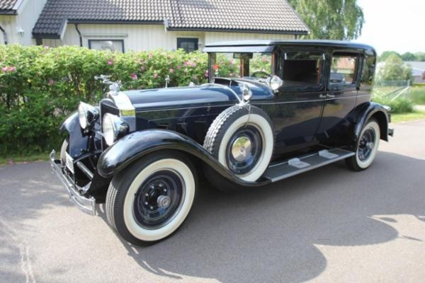 1602 Packard 640, Porsche, Mercedes-Benz, Chevrolet, m.m. sælges via Campen Auktioner