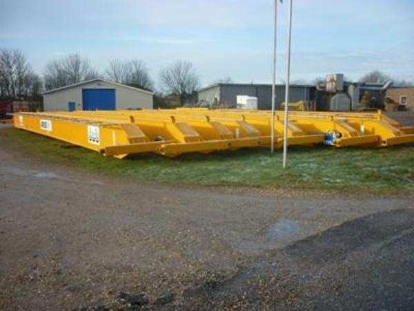 Brugte traverskraner 16 ton ABUS x 22.6 mtr spænd sælges