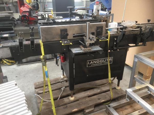 Langguth vådlimsetiketteringsmaskine til WA etiketter