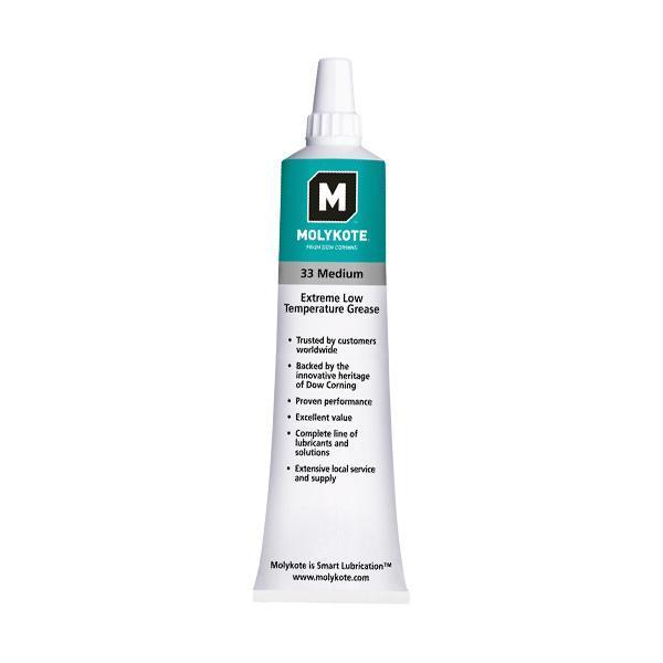 MOLYKOTE 33 Medium lejefedt, Hvid, 100 g tube