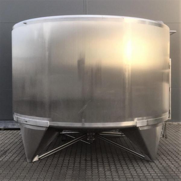 5 stk. 20 m3 uisolerede rustfrie tanke V0979-V0983