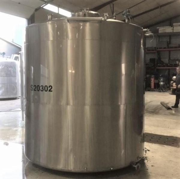 5 stk. 10 m3 rustfrie tanke V0985-V0989