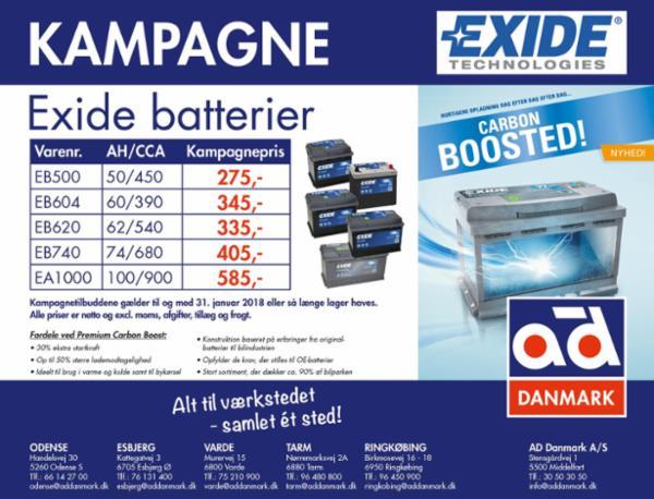 Exide kampagne fra AD Danmark