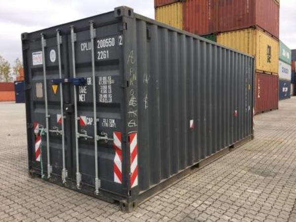 200554-2 20'skibscontainer, m/låsebom
