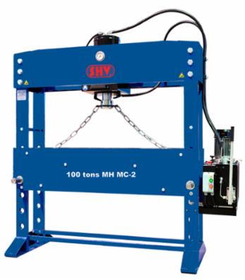 SHV 100 tons MH MC-2 værktøjspresse - motoriseret med flytbar cylinder og ekstra bredde